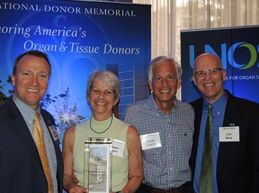 David and Susan Caples, 2015 National Donor Memorial Award