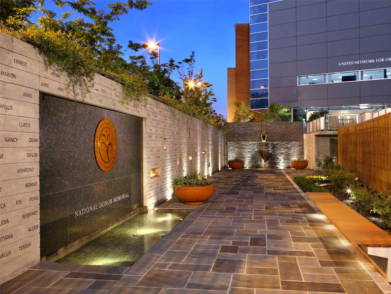 Visit the National Donor Memorial, a memorial garden honoring America's organ and tissue donors.